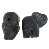 Schwarze Stein Perlen, schwarzer Stein, Elephant, 32x32x17mm, Bohrung:ca. 2mm, 10PCs/Menge, verkauft von Menge