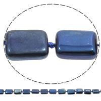 Vergoldete Achat Perlen, Rechteck, plattiert, blau, 12x16x5mm, Bohrung:ca. 1mm, Länge:ca. 16 ZollInch, 5SträngeStrang/Tasche, ca. 22PCs/Strang, verkauft von Tasche