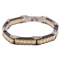 Edelstahl Schmuck Armband, plattiert, farbenfroh, 8x25x5mm, verkauft per ca. 8.5 ZollInch Strang