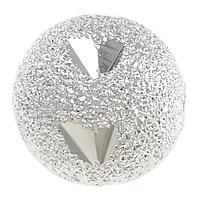 Messing Sternenstaub Perlen, rund, Platinfarbe platiniert, Blume Schnitt & Falten, frei von Nickel, Blei & Kadmium, 10mm, Bohrung:ca. 2mm, 200PCs/Menge, verkauft von Menge