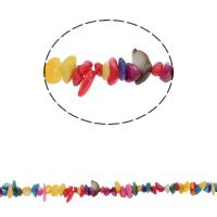 Edelstein-Span, Süßwassermuschel, Bruchstück, gemischte Farben, 5-8mm, Bohrung:ca. 0.8mm, ca. 260PCs/Strang, verkauft per ca. 30.7 ZollInch Strang
