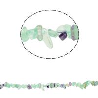 Fluorit Perlen, grüner Fluorit, Klumpen, 5-8mm, Bohrung:ca. 0.8mm, ca. 260PCs/Strang, verkauft per ca. 33.8 ZollInch Strang
