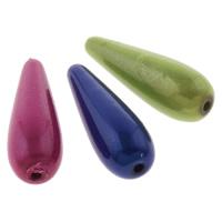 Traumhafte Acrylperlen, Acryl, Tropfen, Spritzlackierung, gemischte Farben, 10x30mm, Bohrung:ca. 1.5mm, ca. 410PCs/Tasche, verkauft von Tasche