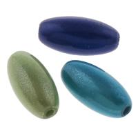 Traumhafte Acrylperlen, Acryl, oval, Spritzlackierung, gemischte Farben, 6x12mm, Bohrung:ca. 1mm, ca. 2200PCs/Tasche, verkauft von Tasche