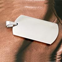 Edelstahl Etikette, 316 L Edelstahl, Rechteck, plattiert, keine, 24x40x2mm, Bohrung:ca. 4x7mm, verkauft von PC