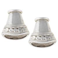 Zinklegierung Perlenkappe, antik silberfarben plattiert, frei von Nickel, Blei & Kadmium, 16x17x8mm, Bohrung:ca. 5x2.5mm, 13x5.5mm, ca. 385PCs/kg, verkauft von kg
