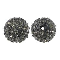 Tschechische Strass Perlen, Lehm pflastern, rund, mit 110 Stück Strass & mit tschechischem Strass, 12mm, Bohrung:ca. 2mm, 10PCs/Tasche, verkauft von Tasche