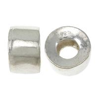 925 Sterlingsilber European Perlen, 925 Sterling Silber, Zylinder, ohne troll, 6.60x11mm, Bohrung:ca. 5mm, 20PCs/Menge, verkauft von Menge
