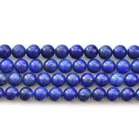 Synthetischer Lapislazuli Perlen, rund, verschiedene Größen vorhanden, Länge:ca. 15 ZollInch, verkauft von Menge