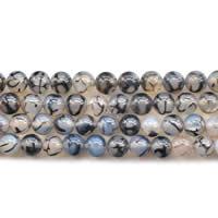 Natürliche Drachen Venen Achat Perlen, Drachenvenen Achat, rund, verschiedene Größen vorhanden, Länge:ca. 15 ZollInch, verkauft von Menge