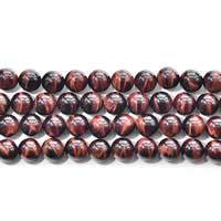 Tigerauge Perlen, rund, natürlich, verschiedene Größen vorhanden, rot, Grade AAAAA, verkauft per ca. 15 ZollInch Strang