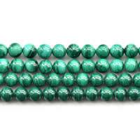 Malachit Perlen, rund, natürlich, verschiedene Größen vorhanden, Grade AAAAA, verkauft per ca. 15 ZollInch Strang