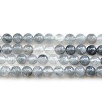 Natürliche graue Quarz Perlen, Grauer Quarz, rund, verschiedene Größen vorhanden, Länge:ca. 15 ZollInch, verkauft von Menge