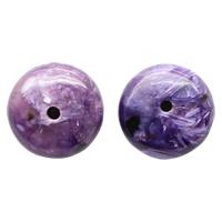 Natürliche Charoit Perlen, flache Runde, verschiedene Größen vorhanden, 5PCs/Menge, verkauft von Menge