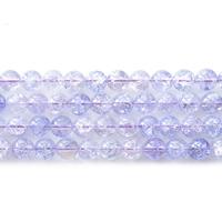 Knistern Quarz Perlen, Natürlicher Quarz, rund, hellviolett, 10mm, Bohrung:ca. 1mm, Länge:ca. 15 ZollInch, 5SträngeStrang/Menge, 39PCs/Strang, verkauft von Menge