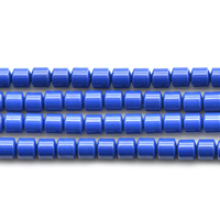 Synthetischer Lapislazuli Perlen, Zylinder, 4x4mm, Bohrung:ca. 0.7mm, Länge:ca. 15 ZollInch, 5SträngeStrang/Menge, 96PCs/Strang, verkauft von Menge
