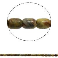 Natürliche verrückte Achat Perlen, Verrückter Achat, Zylinder, 10x14mm, Bohrung:ca. 1mm, ca. 28PCs/Strang, verkauft per ca. 15 ZollInch Strang