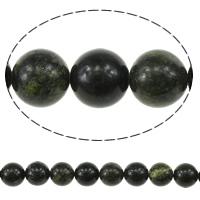 Russische Serpentine Perlen, rund, natürlich, 10mm, Bohrung:ca. 1mm, Länge:ca. 15.5 ZollInch, 10SträngeStrang/Menge, verkauft von Menge