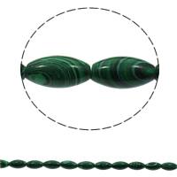 Malachit Perle, oval, synthetisch, 10x20mm, Bohrung:ca. 1mm, 20PCs/Strang, verkauft per ca. 15.7 ZollInch Strang