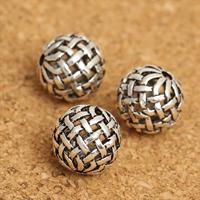 Bali Sterling Silber Perlen, Thailand, rund, hohl, 10mm, Bohrung:ca. 1.8mm, 20PCs/Menge, verkauft von Menge