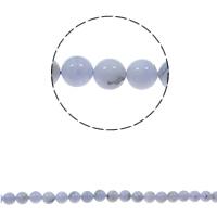 Natürliche violette Achat Perlen, Violetter Achat, rund, verschiedene Größen vorhanden, Bohrung:ca. 1.5mm, verkauft per ca. 15.7 ZollInch Strang
