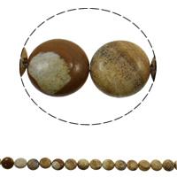 Bild Jaspis Perlen, flache Runde, natürlich, 16x6mm, Bohrung:ca. 1.5mm, ca. 25PCs/Strang, verkauft per ca. 14.9 ZollInch Strang