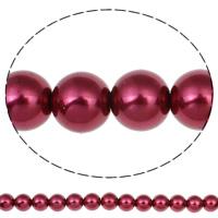 Einbrennlack Glasperlen, Glas, rund, keine, 14mm, Bohrung:ca. 1mm, Länge:ca. 32.2 ZollInch, 10SträngeStrang/Tasche, ca. 60PCs/Strang, verkauft von Tasche