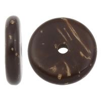 Kokos-Perlen, Kokosrinde, flache Runde, natürlich, originale Farbe, 10x3.5mm, Bohrung:ca. 2mm, 1000PCs/Tasche, verkauft von Tasche