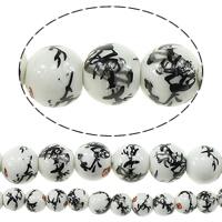Kunstdruck Porzellan Perlen, rund, verschiedene Größen vorhanden, verkauft von Menge
