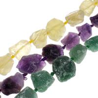 Druzy Beads, Natürlicher Quarz, druzy Stil, keine, 21x18x16mm-28x37x22mm, Bohrung:ca. 2.5mm, ca. 16PCs/Strang, verkauft per ca. 16 ZollInch Strang