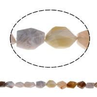 Natürliche Streifen Achat Perlen, gemischt, 20x22x14mm-23x26x17mm, Bohrung:ca. 1.5mm, ca. 16PCs/Strang, verkauft per ca. 15.3 ZollInch Strang
