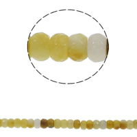 Natürliche gelbe Achat Perlen, Gelber Achat, Rondell, facettierte, 8x5mm, Bohrung:ca. 1.5mm, ca. 75PCs/Strang, verkauft per ca. 15.7 ZollInch Strang