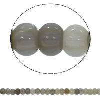 Natürliche graue Achat Perlen, Grauer Achat, Rondell, gewellt, 15x10mm, Bohrung:ca. 1.5mm, ca. 40PCs/Strang, verkauft per ca. 15.7 ZollInch Strang