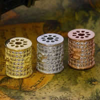 Befestiger Zirkonia Sterlingsilber Perlen, 925 Sterling Silber, Zylinder, plattiert, Micro pave Zirkonia, gemischte Farben, 10x12.30mm, Bohrung:ca. 1-2mm, 3PCs/Menge, verkauft von Menge