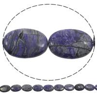Natürliche verrückte Achat Perlen, Verrückter Achat, flachoval, violett, 18x25x5mm, Bohrung:ca. 1mm, Länge:ca. 15 ZollInch, 5SträngeStrang/Tasche, ca. 18PCs/Strang, verkauft von Tasche