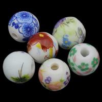Kunstdruck Porzellan Perlen, verschiedene Größen vorhanden & gemischt, 100PCs/Tasche, verkauft von Tasche