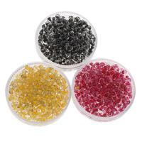 Innen Farben Glas Rocailles, Glas-Rocailles, rund, keine, 2x3mm, Bohrung:ca. 1mm, ca. 3330PCs/Tasche, verkauft von Tasche