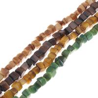 Natürliche farbige Muschelperlen, Muschel, Bruchstück, keine, 5x5mm-7x7mm, Bohrung:ca. 1mm, Länge:ca. 15.7 ZollInch, 10SträngeStrang/Tasche, ca. 72PCs/Strang, verkauft von Tasche