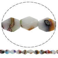 Millefiori Glasperlen, Glas Millefiori, Doppelkegel, handgemacht, 10x12mm, Bohrung:ca. 1mm, Länge:ca. 12.5 ZollInch, 10SträngeStrang/Tasche, ca. 26PCs/Strang, verkauft von Tasche