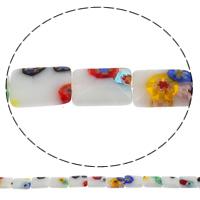 Millefiori Glasperlen, Glas Millefiori, Rechteck, handgemacht, verschiedene Größen vorhanden, Bohrung:ca. 1mm, Länge:ca. 15.7 ZollInch, verkauft von Tasche