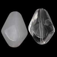 Transparente Acryl-Perlen, Acryl, Rhombus, verschiedene Stile für Wahl, 29x40x17mm, Bohrung:ca. 2mm, 2Taschen/Menge, ca. 50PCs/Tasche, verkauft von Menge