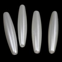 ABS-Kunststoff-Perlen Perle, Rohr, weiß, 6x28mm, Bohrung:ca. 1mm, 2Taschen/Menge, ca. 1000PCs/Tasche, verkauft von Menge