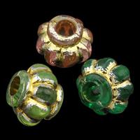 Golddruck Acryl Perlen, Laterne, transparent, keine, 11x9mm, Bohrung:ca. 3mm, ca. 1200PCs/Tasche, verkauft von Tasche