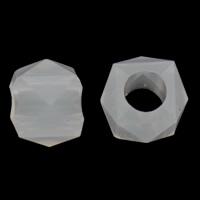 Gelee-Stil-Acryl-Perlen, Acryl, Trommel, facettierte & Gellee Stil, weiß, 8x7mm, Bohrung:ca. 3mm, 2Taschen/Menge, ca. 1660PCs/Tasche, verkauft von Menge