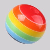 Gestreifte Harz Perlen, rund, farbenfroh, 8mm, Bohrung:ca. 1-3mm, 100PCs/Menge, verkauft von Menge