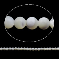 Turbanschnecken Perle, rund, natürlich, verschiedene Größen vorhanden, weiß, Bohrung:ca. 1mm, Länge:ca. 15.7 ZollInch, verkauft von Tasche