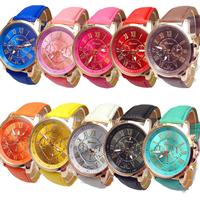 Damen Armbanduhr, PU Leder, mit Glas & Zinklegierung, Rósegold-Farbe plattiert, keine, frei von Nickel, Blei & Kadmium, 40mm, Länge:ca. 8 ZollInch, verkauft von PC