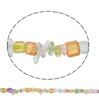 Knistern Quarz Perlen, Bruchstück, natürlich, 5-12mm, Bohrung:ca. 1mm, ca. 100PCs/Strang, verkauft per ca. 34.2 ZollInch Strang