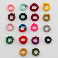 Gewebte Glasperlen, Polyester, Kreisring, keine, 7mm, Bohrung:ca. 5mm, 1000PCs/Tasche, verkauft von Tasche