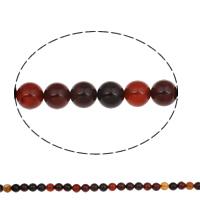 Natürliche Kaffee Achat Perlen, rund, 10mm, Bohrung:ca. 1mm, ca. 37PCs/Strang, verkauft per ca. 15 ZollInch Strang